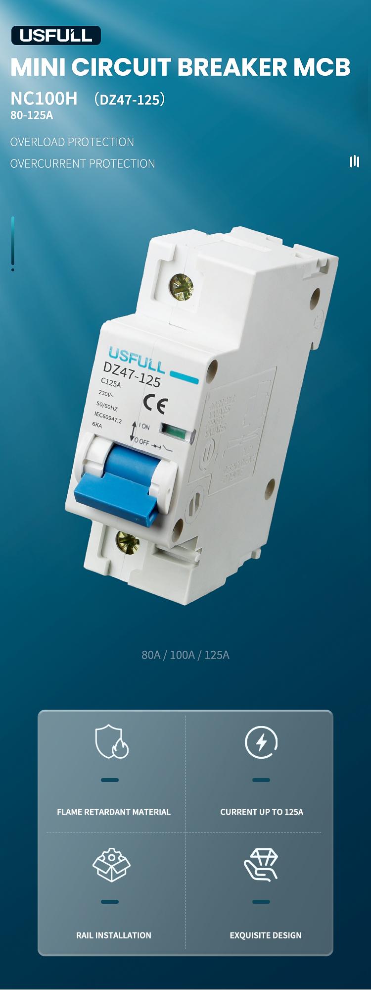 USFULL NC100H miniature circuit breaker